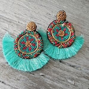 Boho Beauty Beads & Tassels Earrings